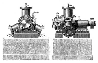 Brotherhood Steam Engine Art Print