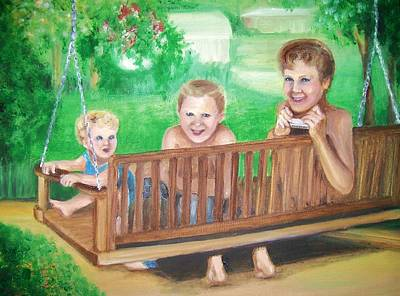 Painting - Brothers Hanging Out Together by Martha Suhocke
