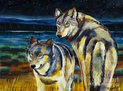 Yellowstone Painting - Brothers by Harriet Peck Taylor