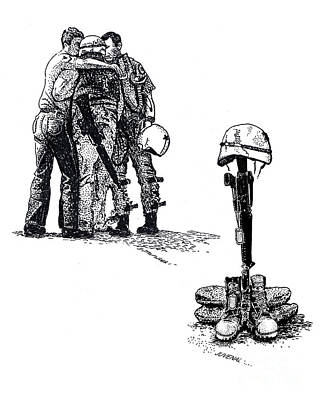 Brothers In Arms Art Print by Joseph Juvenal