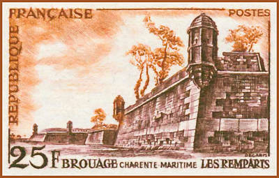 Charente Maritime Painting - Brouage Charente-maritime Ramparts by Lanjee Chee