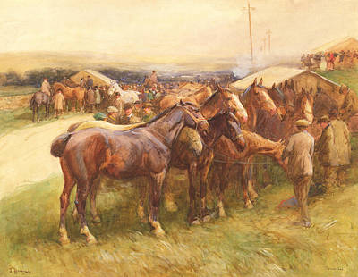 Country Fair Painting - Brough Hill by John Atkinson