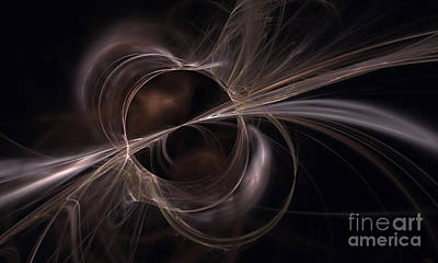 Digital Art - Brown Abstract by Arlene Sundby