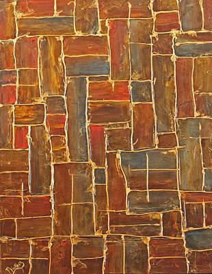 Brown And Gold  Original