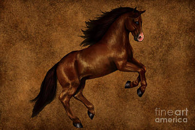 Art Horses Mixed Media - Brown Beauty by Marvin Blaine