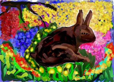 Painting - Brown Bunny by Michael Dohnalek