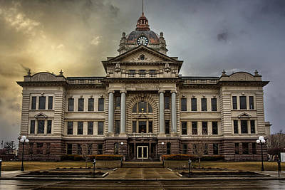 Jefferson Photograph - Brown County Courthouse by Thomas Zimmerman