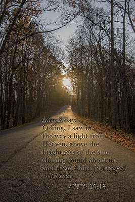 Photograph - Brown County State Park Nashville Indiana Biblical Verse by David Haskett II