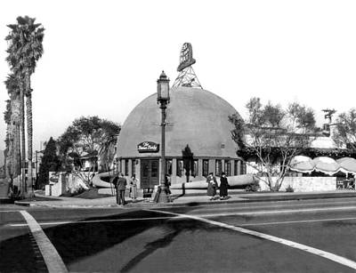 Brown Derby Restaurant Print by Underwood Archives