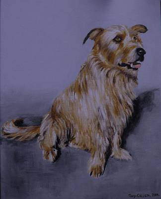 Painting - Brown Dog by Tony Calleja