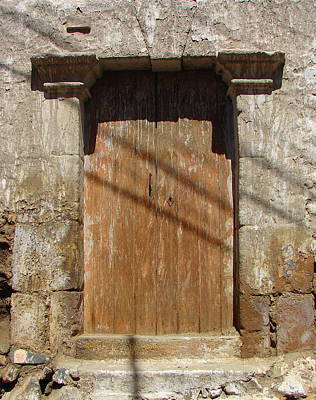 Photograph - Brown Door 1 by Lew Davis