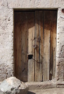 Photograph - Brown Door 2 by Lew Davis