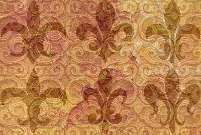 Fleur De Lis Digital Art - Brown Fleur De Lis by Cindy Edwards