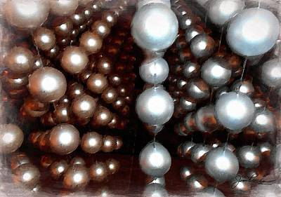 Painting - Brown Grey Dots by Joan Reese