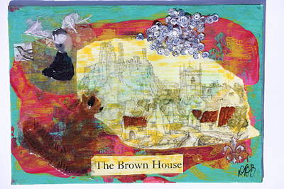 Mixed Media - Brown House No 1 by Dawn Boswell Burke