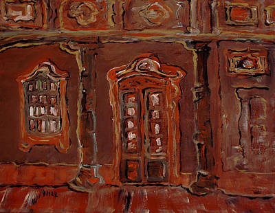 Painting - Brown House by Oscar Penalber
