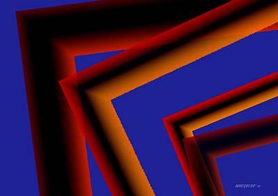 Brown In Geometric Art Art Print by Mario Perez