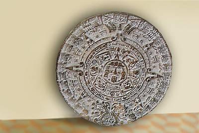 Brown Mexican Media Disk Print by Linda Phelps