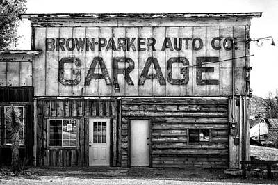 Photograph - Brown-parker Auto Garage by Cat Connor