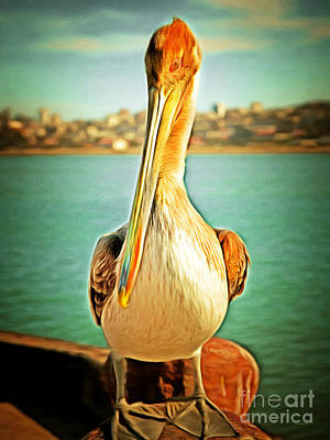 Photograph - Brown Pelican At The Docks 5d21685 by Wingsdomain Art and Photography