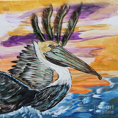 Painting - Brown Pelican by Ella Kaye Dickey