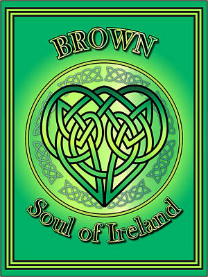 Digital Art - Brown Soul Of Ireland by Ireland Calling