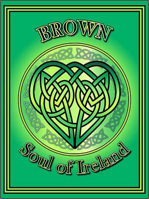 Digital Art - Brown Soul Of Ireland by Ireland Calling