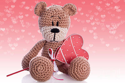 Amigurumi Photograph - Brown Teddy by Ralph Schmaelter