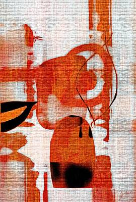 Art Print featuring the photograph Brown Weave Abstract by Allen Beilschmidt