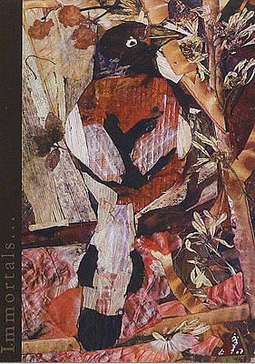 Companion Mixed Media - Brown- White Bird by Basant Soni
