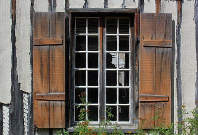 Photograph - Brown Window Closeup by Mary Bedy