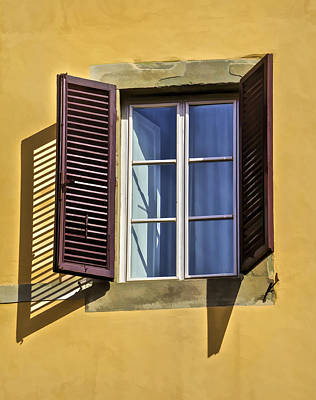 Photograph - Brown Window Shutters Of Tuscany by David Letts