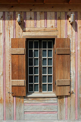 Photograph - Brown Window W Pink Vertical by Mary Bedy