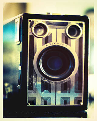 Photograph - Brownie Camera Face by Susan Stone