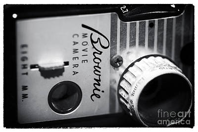 8mm Photograph - Brownie Movie Camera by John Rizzuto