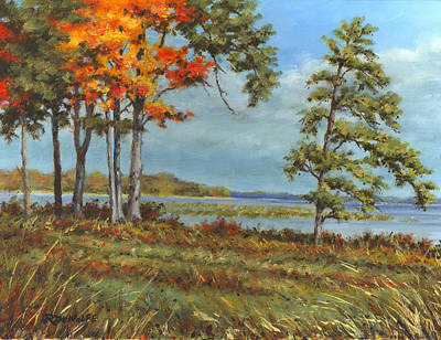 St. Lawrence River Painting - Browns Bay by Richard De Wolfe