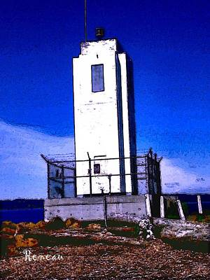 Photograph - Browns Point Washington Lighthouse 2 by Sadie Reneau