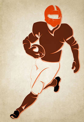 Browns Shadow Player Art Print