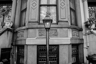 Brownstone In Park Slope Brooklyn In Black And White Art Print by Priyanka Ravi