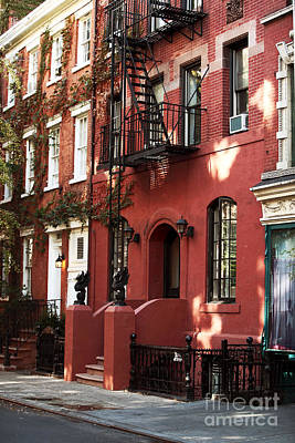 Brownstone Art Print by John Rizzuto