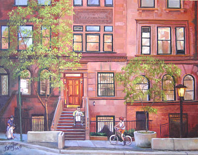Brownstone Spring Art Print by Joseph Carragher