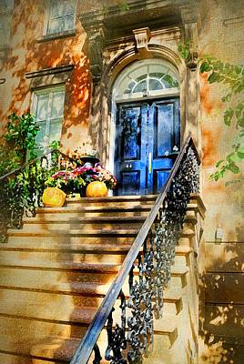 Photograph - Brownstone Steps by Diana Angstadt
