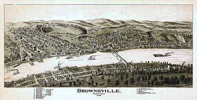 Steamboat Photograph - Brownsville Pennsylvania  by Stephen Stookey