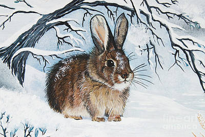 Painting - Brrrr Bunny by Jennifer Lake