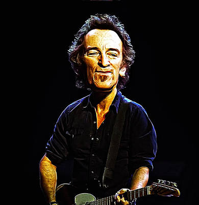 Bruce Springsteen Digital Art - Bruce by Bill Cannon