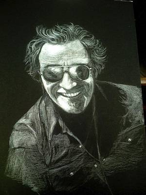 Bruce Springsteen Drawing - Bruce by Celia Teichman