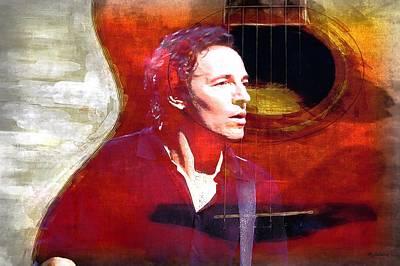 Bruce Springsteen Photograph - Bruce by John Delong