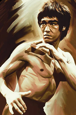 Bruce Lee Painting - Bruce Lee Artwork by Sheraz A
