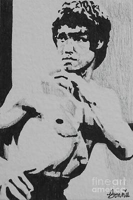 Mixed Media - Bruce Lee by Bonnie Cushman