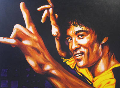 Bruce Lee Painting - Bruce Lee by Bruce McLachlan